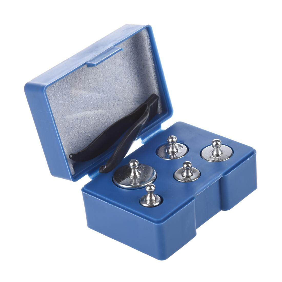 5PCS 50g 20g 10g 5g Grams Precision Chrome Calibration Scale Weight Set Kit - intl