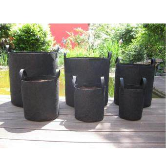 Harga 5pcs Round Fabric Planter Grow Bag Plant Pouch Root Pots Container12-100 Gallon