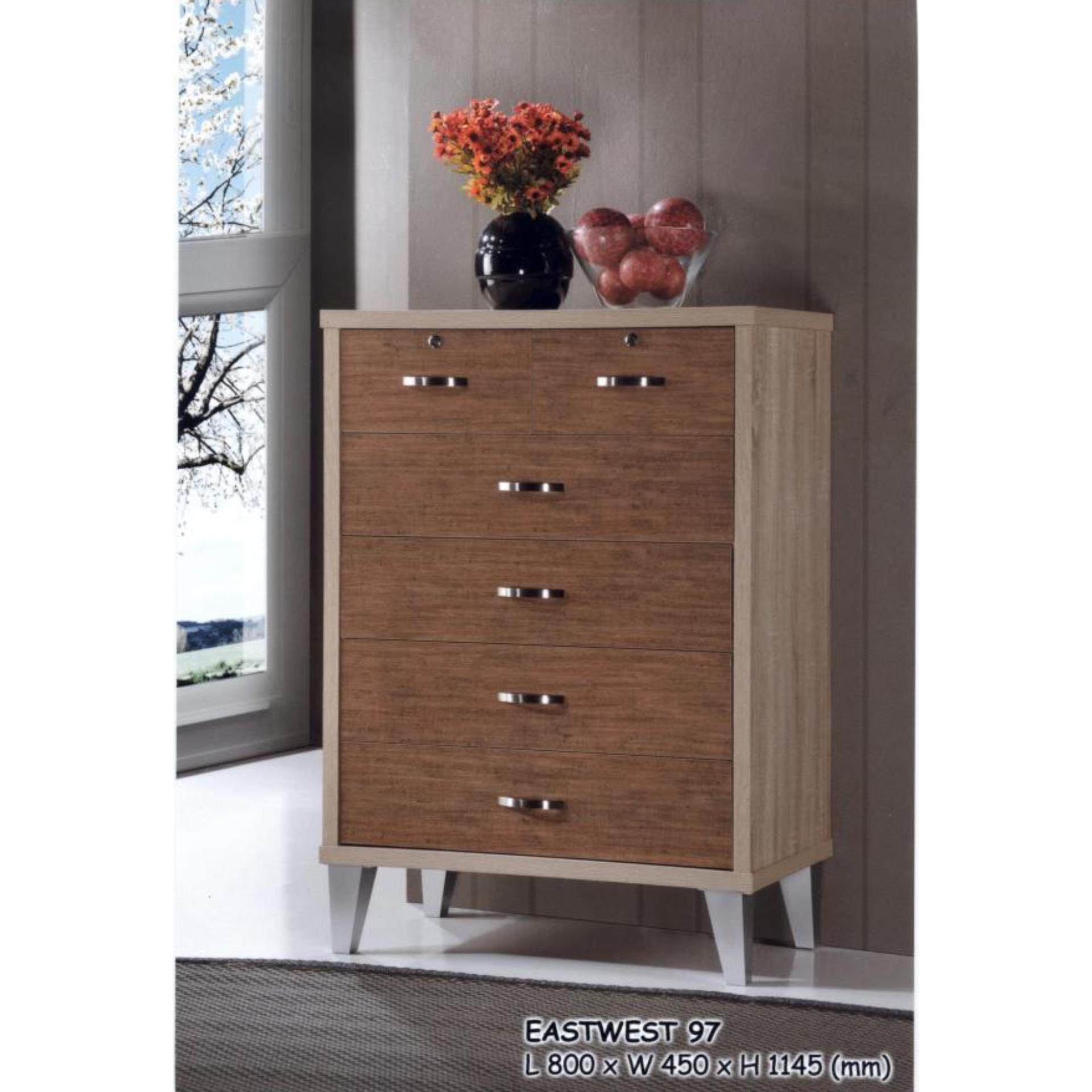 6 Drawer Solid Chest Wood
