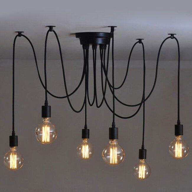 industrial ceiling lighting. 6 heads vintage industrial ceiling lamp edison light chandelier pendant lighting lazada malaysia i