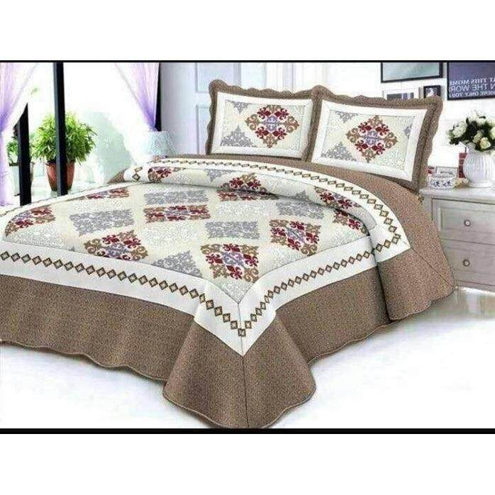 6 in 1 Queen Size Patchwork/Bed Sets/Quilt Set Easy to Wash  (G)