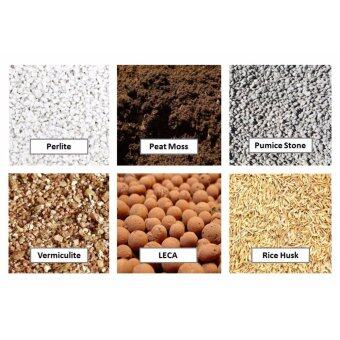 6-in-1 Soil Potting Mix - Peat Moss (250g), Perlite (250g), Vermiculite (250g), Pumice stone (250g), LECA (250g) and Rice Husk (250g) -BUY 5, FREE 1