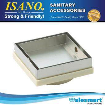 6'' Isano Stainless Steel Tile Insert Square Floor Drain ShowerWaste Grating