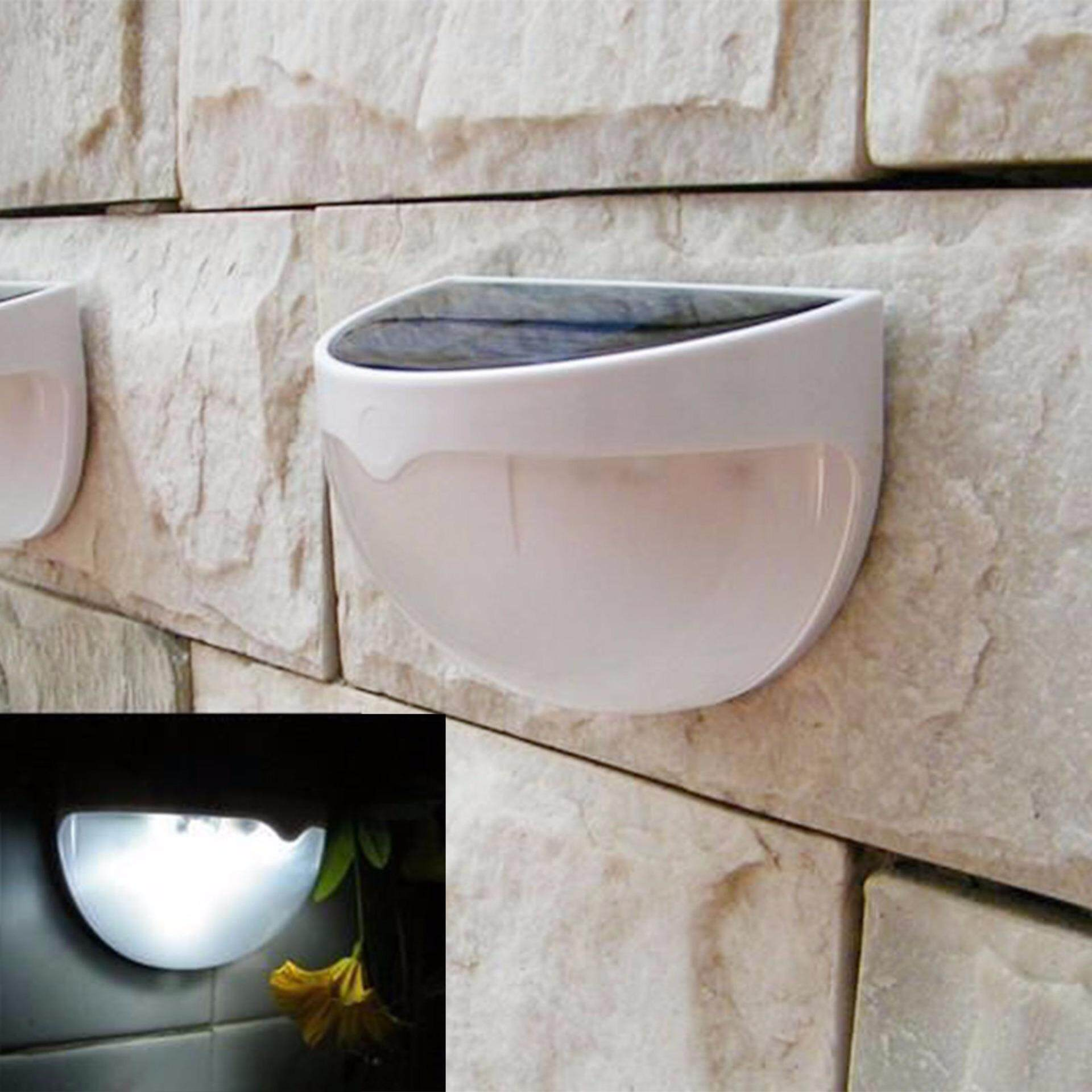 6 LED Solar Power Stair Outdoor Light Garden Yard Fence Wall landscape