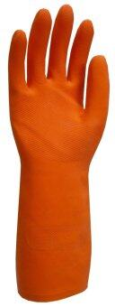 6 Pairs Safetyware Duramax(TM) HF2813 Agriculture Maintenance ChemicalProcessing Industrial Heavy Duty Natural Rubber Gloves (Orange)