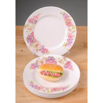 6pc 10' Melamine Dinner Plate Flora