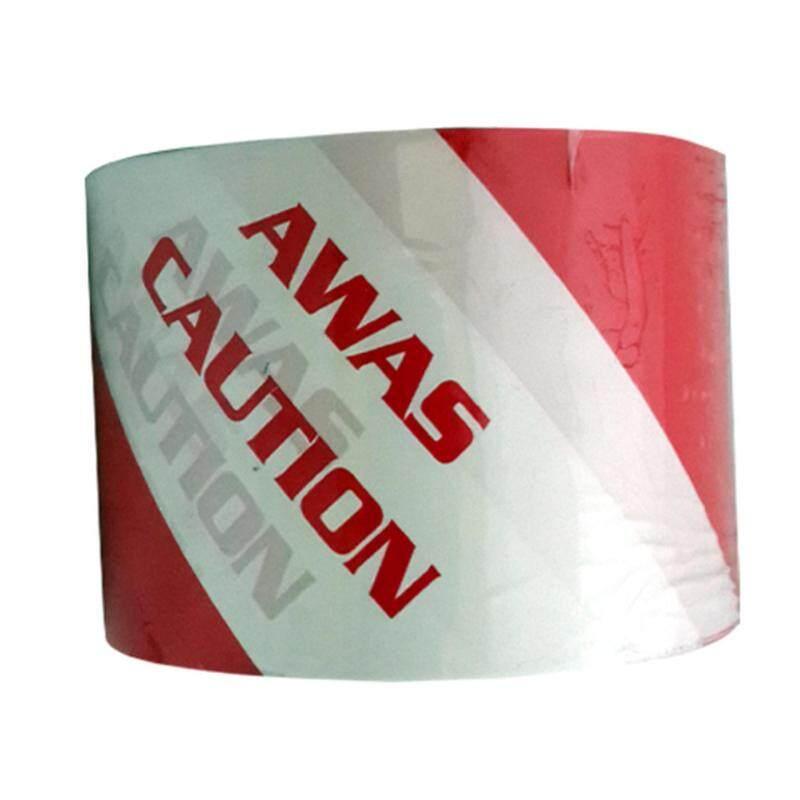 6pcs Warning Caution Awas Tape 72mm x 50m Red/White