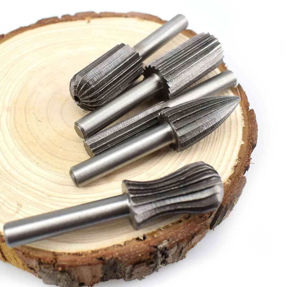 THB 445 6pcs Woodworking Wood Drill Bit Set High-speed Milling Cutter Carving Tools Dremel