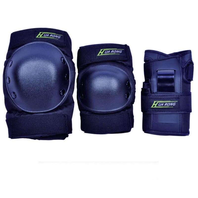 Buy 6pcs/set Adult Sports Safety Set Roller Skates Skateboard Skiing Snowboard Wrist Knee Elbow Protector Set Adult Kids Kne Malaysia