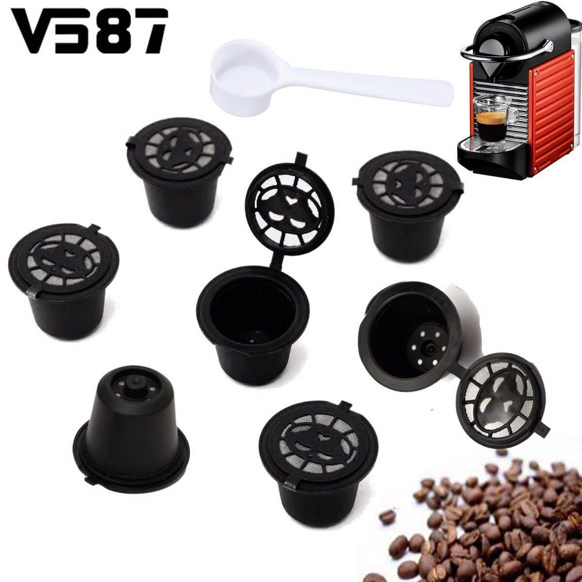 7 Pcs Isi Ulang Mikro Jaring Penyaring Kopi Kapsul Pod Espresso Brewer Filter Dapur Kedai Kopi
