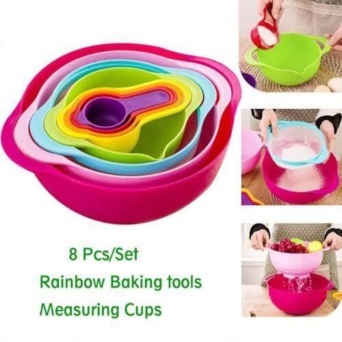 8pcs Sweet Color Mixing Bowl Set