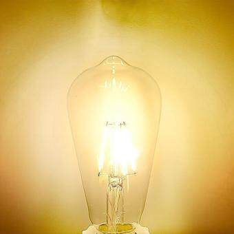 8W Edison Style Vintage LED Filament Light Bulb 3000K Daylight E27 ST64 Base Lamp