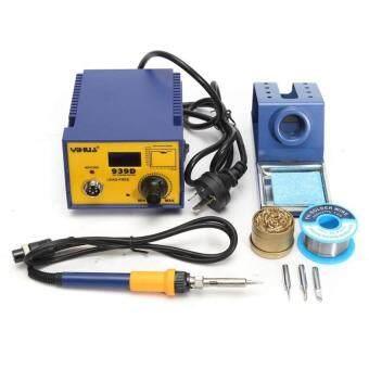 939D 75W Digital Display Soldering Rework Solder Iron Station 3 Tip Lead Welding