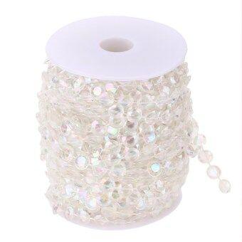 99FT Garland Diamond Acrylic Crystal Bead Curtain Wedding DIY Party Decor