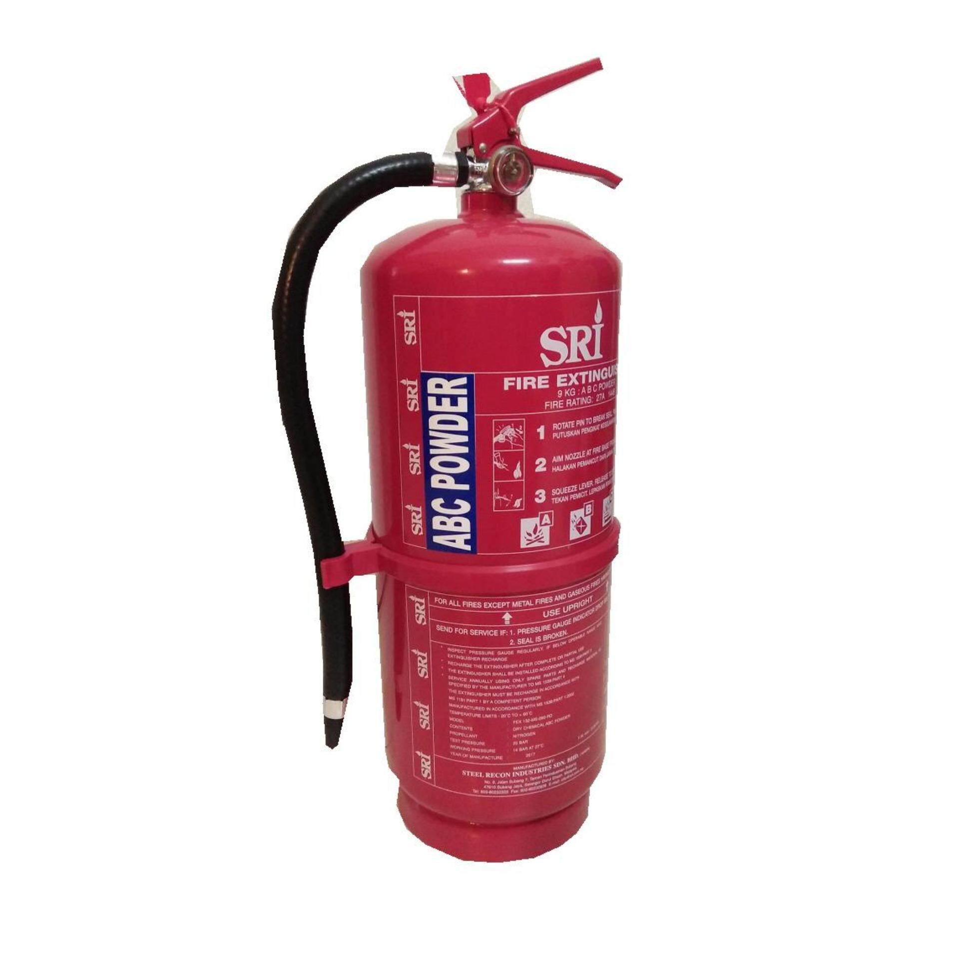 9KG ABC Powder Fire Extinguisher New For Commercial and Business Office All universal Use with Bomba Cert Register