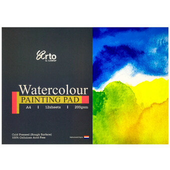 Harga A4 12s WATERCOLOR PAPER PAD (100% CELLULOSE) 300 GSM