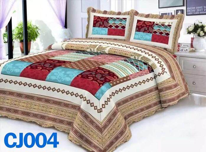 ABSTRAK DESIGN 3PC SET CADAR PATCHWORK (Queen n King ) CJ004