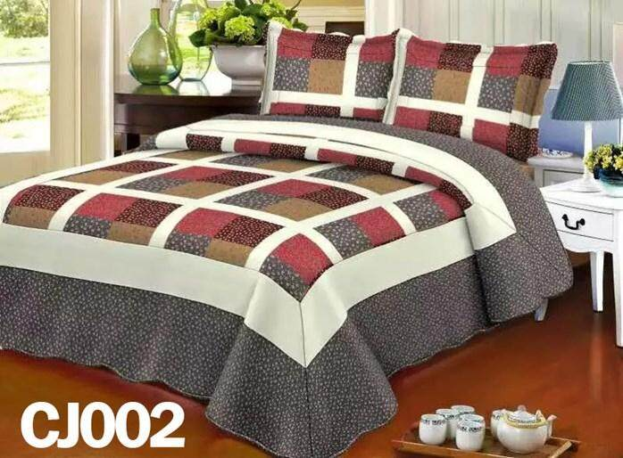 ABSTRAK DESIGN 3PC SET CADAR PATCHWORK (Queen n King ) CJ02