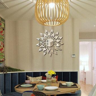 Acrylic Mirror Wall Sun Flower Bedroom Living Room Sofa Decorative Mirror Decorative Painting Mirror Stickers