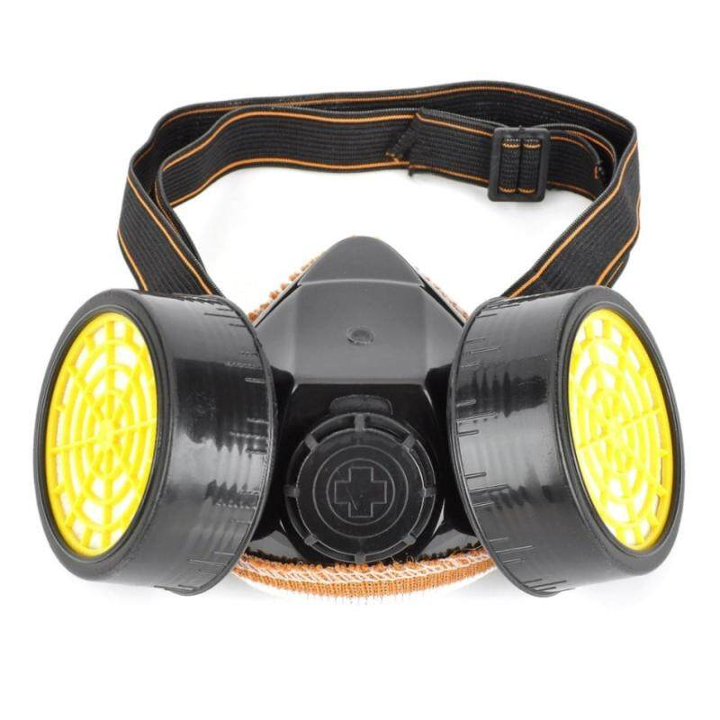 Buy Activated Carbon Double Chemical Gas Respirator Dust Filter Mask Malaysia