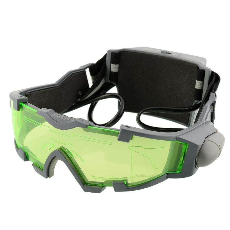 Buy Adjustable LED Night Vision Goggles Eye shield Green Lens eye protector Glasses Malaysia