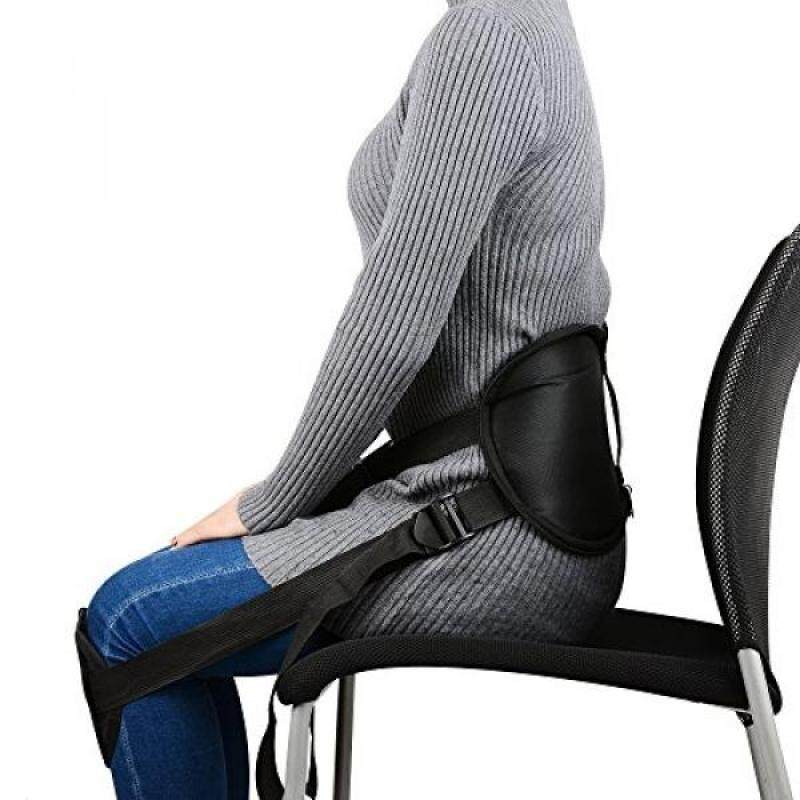 Adjustable Waist Protection,Bestrice Portable Back Support Belt Pad for Better Sitting Waist Protector by Correcting Posture While Sitting Support Brace for Pain Relief