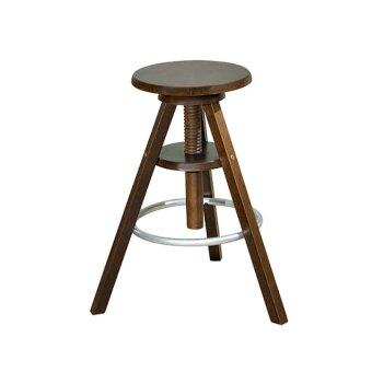 Adjustable Wooden Stool (Cappuccino)