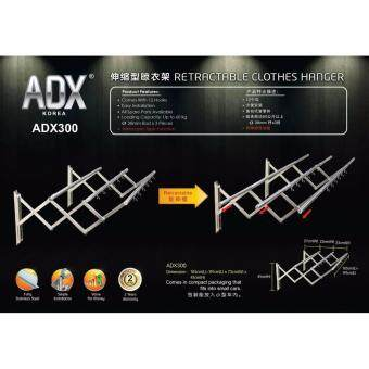 Adx 300 Retractable Clothes Hanger with 3 Pieces