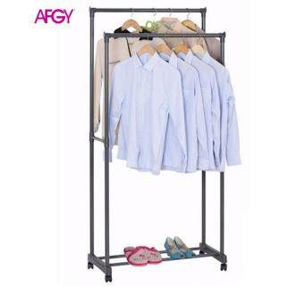 Harga AFGY FGR 030 Heavy Duty Double Garment Rack