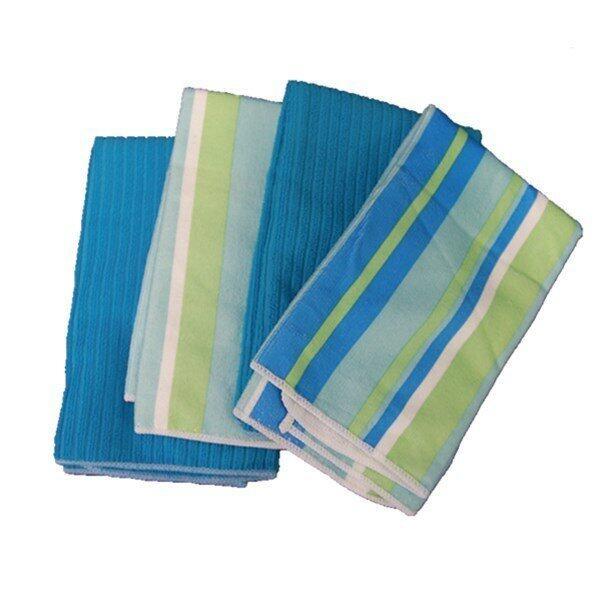 AFGY FGT 048 Streaks Microfiber Kitchen Towel (Blue) x 2pcs