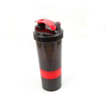Ai Home 500ml Protein Blender Shaker Shaking Cup Bottle DrinkwareBarware Tool (Red)