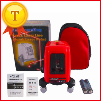 AK455 Portable 360 Degree Self-leveling Cross Laser Level Red 3 Line 3 Point level laser rotary laser with level wall bracket