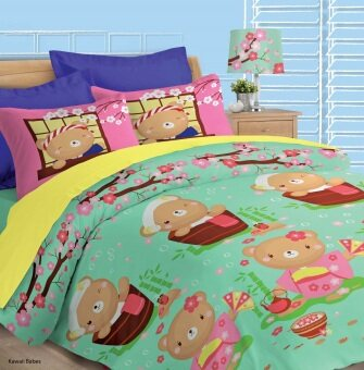 Akemi Fantasia Queen Fitted Sheet Set (Kawaii Bears)