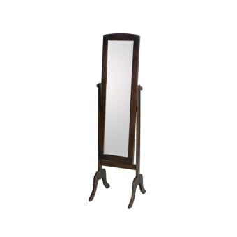 Alicia Cappuccino Solid Wood Swivel Mirror Stand