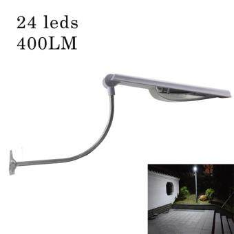 Harga All In One Led Solar Street Lights Adjustable Angle 24 Leds OutdoorSensor Light 400LM Led Garden Waterproof Solar Lamp Powered