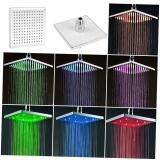 Harga Allwin 8 Inci Square Curah Hujan Shower 7 Warnd Led Mengubah Kamar Mandi Atas Kepala Semprot Termahal