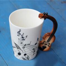 Beli Allwin Cangkir Mug Keramik Bunyi Bunyian Diperhatikan Gaya Cangkir Kopi Susu Hadiah Natal International Terbaru