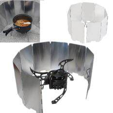 Spesifikasi Allwin Lipat Mini 9 Bbq Piring Cooker Kompor Gas Penghalau Angin Piknik Luar Ruangan Layar Perak Murah Berkualitas