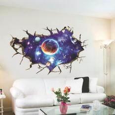 Beli Kualitas Tinggi 3D Stiker Dinding Luar Angkasa Planet Stiker Seni Dekorasi Rumah Allwin Pakai Kartu Kredit