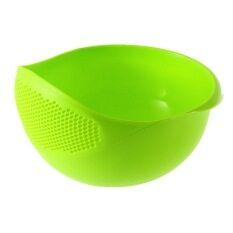 Spesifikasi Baru Plastik Praktis Cuci Beras Saringan Saringan Alat Dapur Hijau Allwin Beserta Harganya