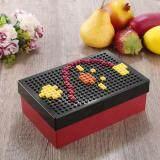 Toko Allwin Portable Unik Diy Pixel Block Puzzle Penyimpanan Makanan Piknik Kotak Makan Wadah Hitam Intl Oem