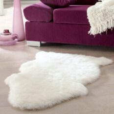 Beli Allwin Super Lembut Imitasi Kulit Domba Menutupi Kursi Hangat Bantalan Karpet Berbulu Halus 60 Cm 90 Cm Putih Dengan Kartu Kredit
