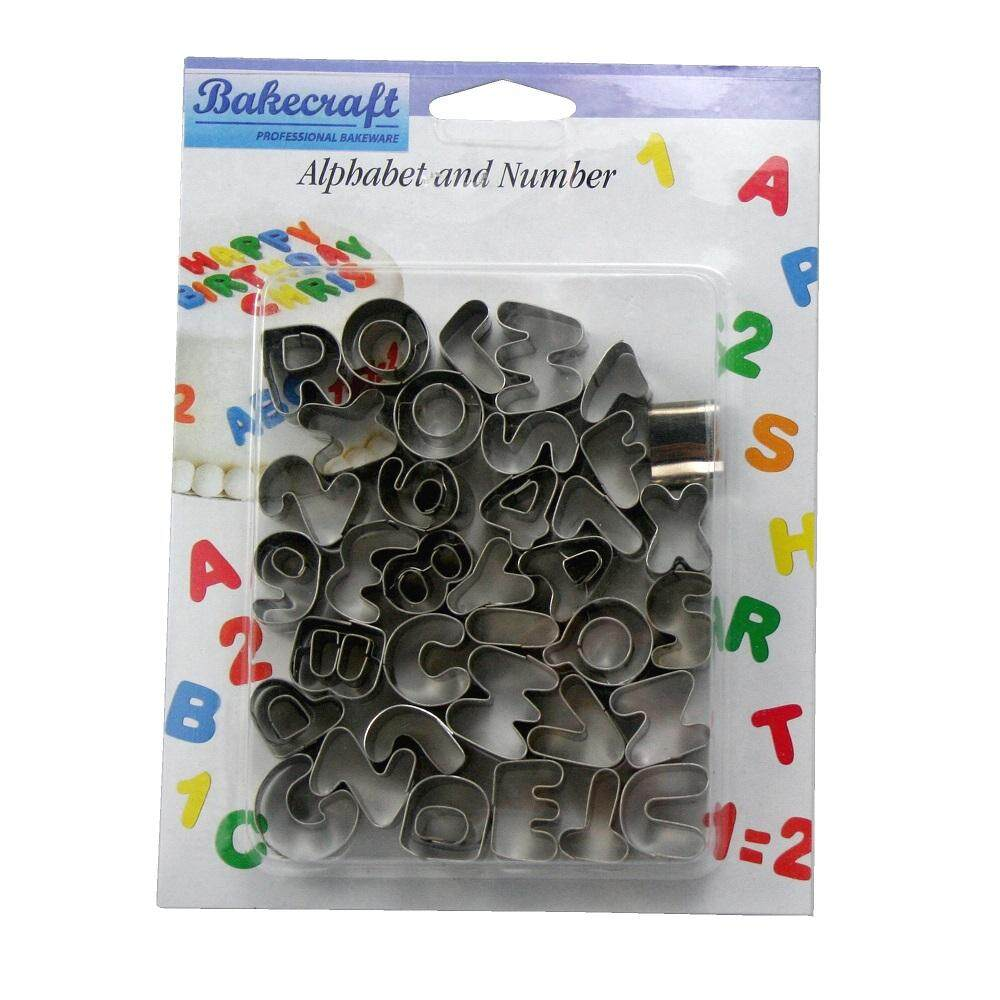 Alphabet & Number Mould Stainless Steel