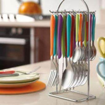 Amefa 24pcs Eclat Cutlery Set With Hanging Storage Rack