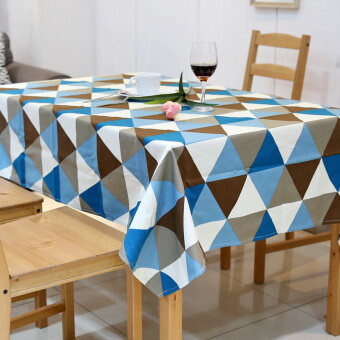 American pastoral countryside triangular geometry waterproof living room coffee table dining table cloth tablecloth fabric table cloth rectangle customize
