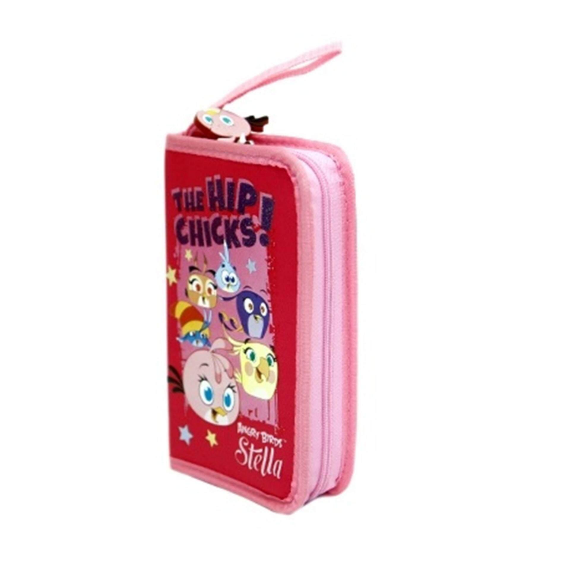 Angry Birds Stella 3 Folded Organiser Set - Pink Colour
