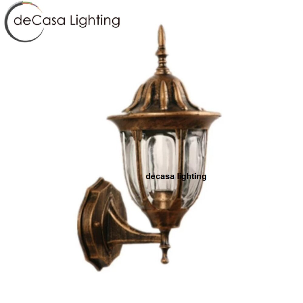 Antique Decasa Exterior Outdoor Wall Light Wall Lamp Glass Weather Proof E27 Gate Outdoor PT304-W-AB