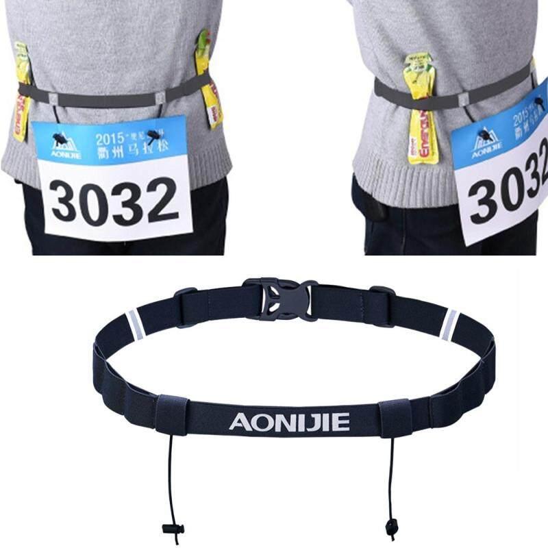 Buy AONIJIE Unisex Marathon Running Race Number Belt with Holder Belt (Black) Malaysia