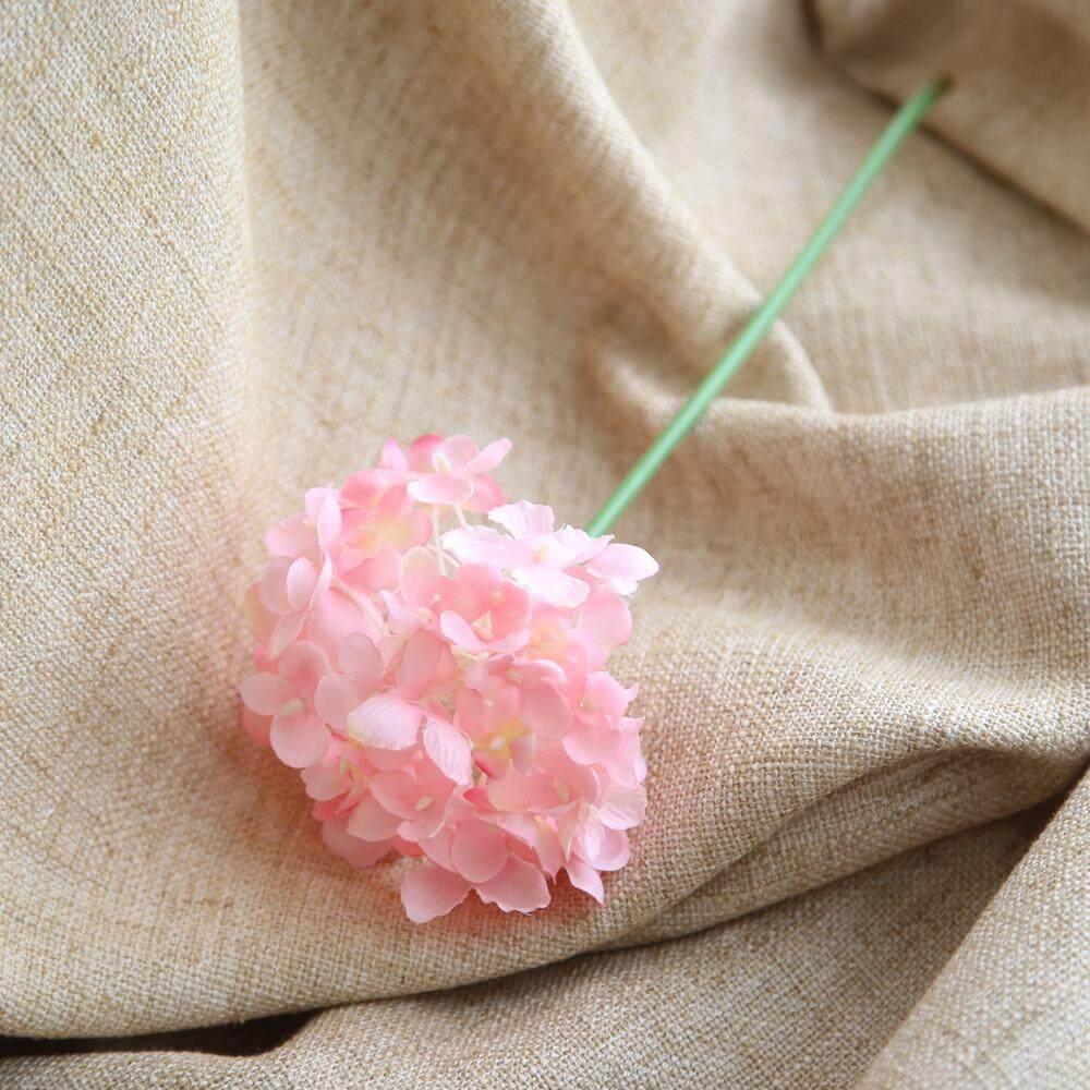 Buatan Sutra Palsu Bunga Peony Floral Buket Pernikahan Hortensia Pengantin Pink-Intl