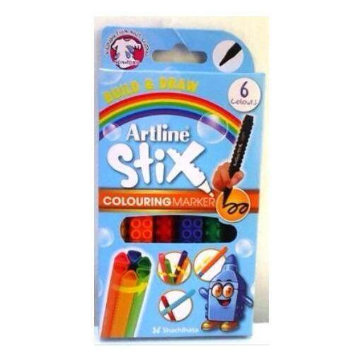 ARTLINE ETX-300 STIX 6 COLORING MARKER  ISBN: 4974052862045